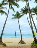 Boracay tropisk strand Arkivfoton
