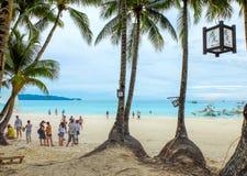 Boracay tropisk strand Royaltyfria Foton