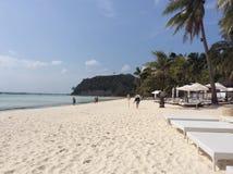 Boracay vit strand Royaltyfria Bilder