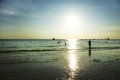 boracay wyspa Philippines relaksuje zmierzch Zdjęcia Stock