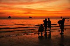 boracay wyspa Philippines relaksuje zmierzch Zdjęcie Royalty Free