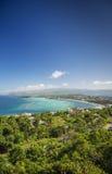 Boracay wyspy wybrzeża tropikalny krajobraz w Philippines Zdjęcia Royalty Free