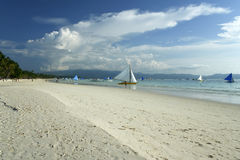 Boracayisland  white beach sailing philippines Royalty Free Stock Photography