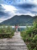 Boracko湖在科尼茨,波黑 库存图片