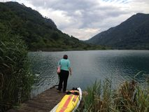 Boracko sjö i Konjic, Bosnien och Hercegovina Arkivfoto