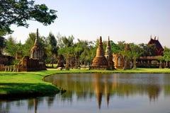 boran庭院muang塔泰国视图 图库摄影