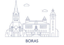 Boras Le costruzioni più famose della città Fotografie Stock Libere da Diritti