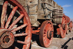 Borax mining cart, Death Valley Royalty Free Stock Photos