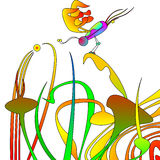 Borboleta abstrata ilustração royalty free