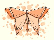 Borboleta abstrata do zumbido da ilustração do vetor Fotografia de Stock