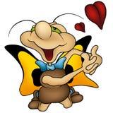 Borboleta Amorous Fotografia de Stock Royalty Free