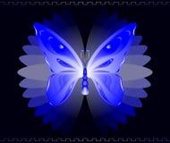 Borboleta azul Imagens de Stock