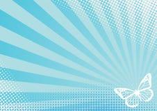 Borboleta azul Imagens de Stock Royalty Free