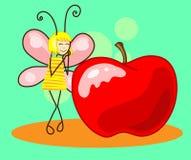 Borboleta bonita à maçã Vetor Fotografia de Stock Royalty Free
