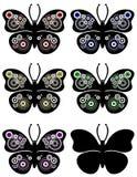 A borboleta circunda o ornamento Fotografia de Stock