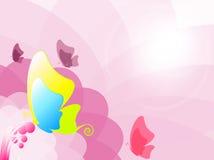 Borboleta colorida ilustração stock