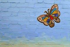 Borboleta colorida do mosaico foto de stock royalty free