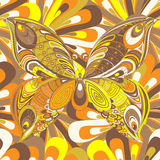 Borboleta colorido abstrata Fotografia de Stock Royalty Free