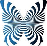 Borboleta com linha azul e preta efeito Ilustração Stock