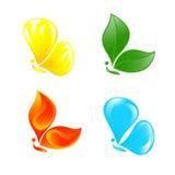 Borboleta como quatro elementos. Imagem de Stock Royalty Free