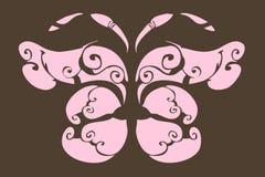 Borboleta cor-de-rosa Foto de Stock