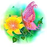 Borboleta cor-de-rosa Imagem de Stock