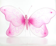Borboleta cor-de-rosa de Decortive imagem de stock royalty free