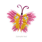 Borboleta cor-de-rosa do origâmi Imagens de Stock Royalty Free