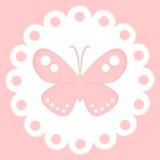 Borboleta cor-de-rosa vetor isolado da decoração Imagem de Stock Royalty Free