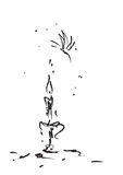 Borboleta da extremidade da vela Foto de Stock Royalty Free