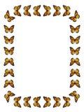 Borboleta de monarca da beira ilustração royalty free