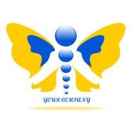 Borboleta de tiragem do logotipo da empresa ilustração do vetor