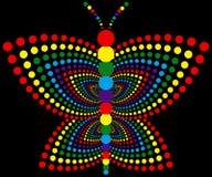 Borboleta do arco-íris ilustração stock