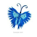 Borboleta do azul do origâmi Imagens de Stock Royalty Free