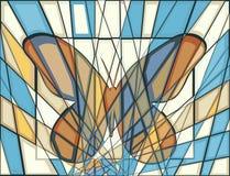 Borboleta do mosaico Fotos de Stock Royalty Free