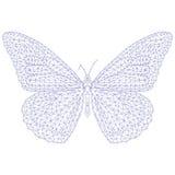 Borboleta do mosaico para colorir e projeto Foto de Stock