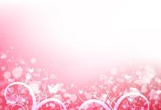 A borboleta e as folhas dispersam com o romântico fresco do borrão e a estrela s ilustração stock