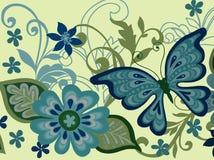 Borboleta e flor Ilustração Stock