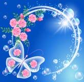 Borboleta e flores Fotos de Stock