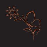 Borboleta em flower1 Foto de Stock Royalty Free