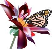 Borboleta em uma flor Imagens de Stock Royalty Free