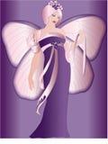 Borboleta, fairy, roxo, fevereiro Fotos de Stock