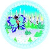 Borboleta festiva do inverno ilustração royalty free