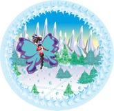 Borboleta festiva do inverno ilustração do vetor