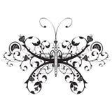 Borboleta floral ilustração royalty free