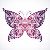 Borboleta floral decorativa abstrata Imagens de Stock Royalty Free