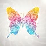 Borboleta floral do teste padrão colorido abstrato ilustração stock