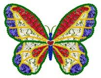 Borboleta floral francesa como o símbolo da memória Imagens de Stock Royalty Free