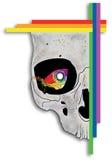 Borboleta no olho do crânio Imagem de Stock