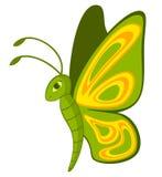 Borboleta tropical dos desenhos animados engraçados. Imagens de Stock Royalty Free